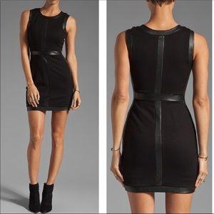 Bailey 44 faux vegan leather trim dress XS